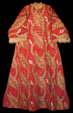 Caftan with short sleeves, double fur, associated with Bayazit II, oldest son and successor of Mehmed II, ruling as Sultan of the Ottoman Empire from 1481 to 1512, 16th century.