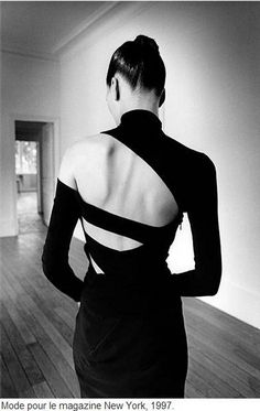 Dress by Martine Sitbon. Photograph by Jeanloup Sieff. // Haati Chai