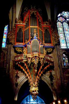 Strasbourg, Notre Dame Cathedral, the Silbermann organ, eighteenth century. by ctruongngoc via Flickr