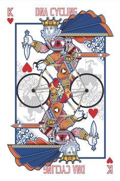 DNA Cycling John Powell Tatoo Bike, Omg Posters, King Card, Playing Cards Art, Bike Illustration, Bike Poster, Bicycle Art, Bicycle Design, Cycling Art