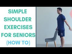 Simple Shoulder Exercises For Seniors - How To! Fitness Workout For Women, Fitness Tips, Health Fitness, Shoulder Workout, Shoulder Exercises, Easy Workouts, Workout Exercises, Facebook Support, Ww Points