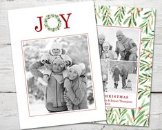 Joy Wreath Holiday Christmas Photo Card, Christmas Photo Cards PRINTABLE, ultiple Photo Holiday Cards, Photo Cards Christmas Christmas Photo Cards, Christmas Photos, Holiday Cards, Christmas Holidays, 2nd Birthday Invitations, Printable Cards, Christmas Printables, Holiday Wreaths, Joy