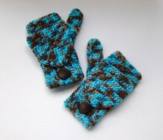 Convertible Fingerless Mittens Waterscape by CreativeEndeavorsKS