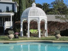14 Great Gazebos --> http://www.hgtvgardens.com/hardscaping/14-gazebos-for-patios-pools-and-gardens?s=1&soc=pinterest