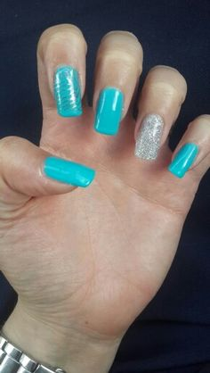 Turquoise and Glitter