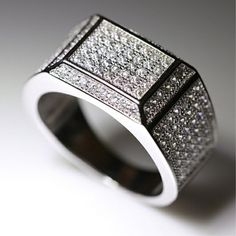 Luxury Micropave Cz Band 925 Silver Mens Engagement Wedding Party Ring Size 8-12