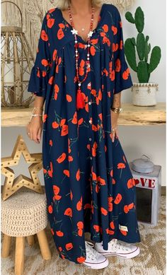 African Maxi Dresses, African Attire, Abaya Fashion, Fashion Dresses, Dress Outfits, Womens Linen Clothing, Over 60 Fashion, Casual Dresses, Summer Dresses