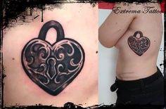 TATTOO Candado corazón ¿quién tendrá la llave matarilerilerile? :)  #tattoos #tatuajes #Badajoz #inktattoos #inkedgirls #bodyart #inkart #extremadura