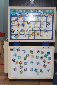 This #magnetic #calendar by Melissa & Doug is great. Beware of small parts of children under three. #kids #products