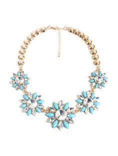 Charming Faux Pearl Floral Necklace For Women #womensfashion #pinterestfashion #buy #fun#fashion