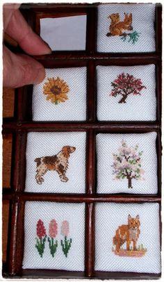 Miniaturas en mi mundo: Cajón de Imprenta: empezando a montar casillas