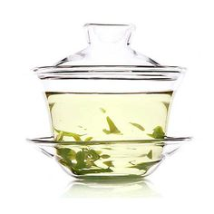 Glass Gaiwan-Fragrant Grass - Gaiwan/Covered Bowl - Teaware Enjoy / Slow / Green
