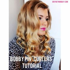 Tutorial on bobby pin curls... Keeps your hair curled for days!