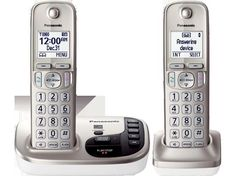 PANASONIC KX-TGD222N DECT6.0 Expandable Digital Cordless Phone, Answering System #Panasonic
