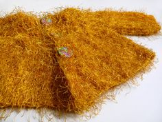 Fancy+mustard+yellow+knitted+cardigan+for+a+girl+by+evahandmade,+$78.00