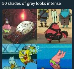 Funny memes 50 shades of SpongeBob. Memes Humor, Funny Memes, Jokes, Funny Quotes, Top Memes, Memes Spongebob, Spongebob Squarepants, Squidward Meme, Spongebob Anime