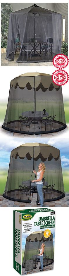 Insect Nets and Repellents 65965 Insect Mosquito Net Protect Canopy Outdoor Breathable Tent Umbrella Gazebo & Insect Nets and Repellents 65965: Naturo Outdoor Double Bed ...