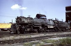 NOLA Rails   Union Pacific 4-6-6-4 #3832 a CSA-2 Challenger, at Council Bluffs CO, July 1956. These were all later renumbered to the 3900's later. M. White collection.