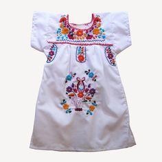 Puebla dress white