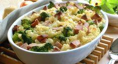 Makaronigrateng med p& Vegetarian Eggs, Frisk, Main Meals, Pasta Salad, Potato Salad, Macaroni And Cheese, Nom Nom, Bacon, Dinner Recipes