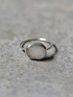 Labradorite Slice Ring | Artisan sterling silver ring with bezel set freeform labradorite stone. American made.    *By Melissa Joy Manning