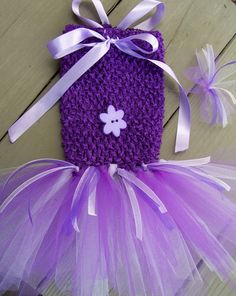 Purple Party Crochet Doggie TuTu...party dress for the birthday girl