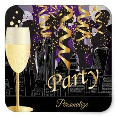 Girls Night Out Birthday Party Square Sticker - birthday gifts party celebration custom gift ideas diy