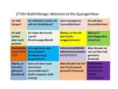 Bullshitbingo: happy quengel hour - Sätze, die ab 17 Uhr fallen.