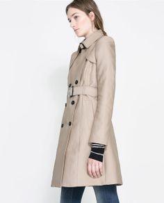 COTTON TRENCH COAT - Coats - Woman | ZARA Ireland