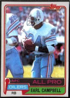 Earl Campbell topps football 1985 card  e3087669e