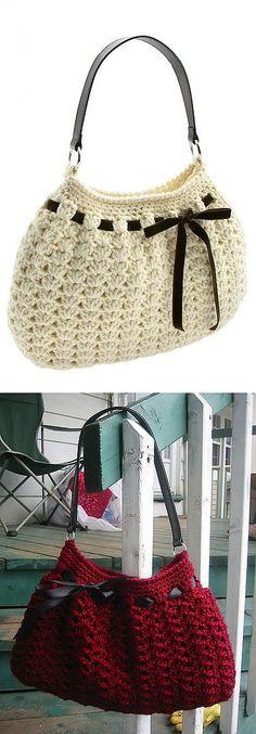 La bolsa simple por el gancho | Mis Petelki