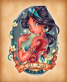 the disney princess: Jasmine