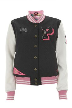 Pauls Boutique | Baseball Jacket in charcoal | Official web site