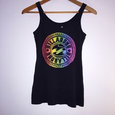 Billabong Tank Billabong • Tank Top • Rainbow Emblem on front • Tiny hole at the bottom on the side as shown in last photo • Size Medium • Billabong Tops Tank Tops