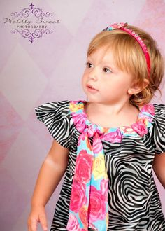 Rowdy Roses Neck Tie Flutter Dress in your by halfpintboling, $19.95