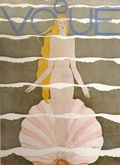 Vintage Vogue cover #Vogue #magazine #illustration