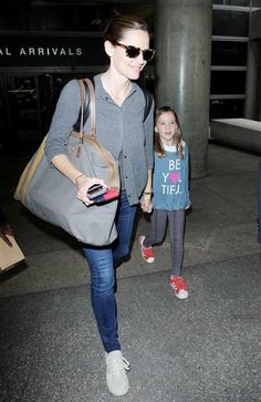 Jennifer Garner and her daughter Seraphina Affleck are spotted at LAX International Airport in Los Angeles on June 2, 2016.
