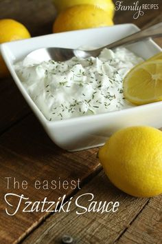 This Tzatziki sauce is ridiculously easy. Seriously, you can whip it up in like 2 minutes. I love this with grilled vegetables, gyros, and/or Greek salad. made with chicken gyros. Tzatziki Sauce Recipe Easy, Tzatziki Recipes, Homemade Taziki Sauce, Homemade Tzatziki, Dips, Vegetarian Recipes, Cooking Recipes, Vegetarian Grilling, Sauces