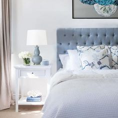 Our stunning pure duck egg blue linen buttoned bedhead captures the style and grace of classic Hamptons decor. It is beautifully crafted with solid oak legs. The bedhead is simply placed behind your bed and your ensemble is pushed up against it. Hamptons Style Bedrooms, Hamptons Style Decor, Estilo Hampton, Bedroom Furniture, Bedroom Decor, Bedroom Ideas, Linen Bedroom, Bedroom Carpet, Furniture Layout