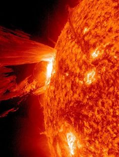 Solar flare, one of many, recently. 4/16