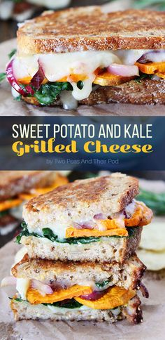 Sweet Potato and Kale Grilled Cheese | Here Are 7 Fall Dinners To Make This Week