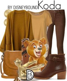 You will be as cute as a teddy bear in this outfit inspired by Koda from Brother Bear    Disney Fashion   DisneyFashion Outfits   Disney Outfits   Disney Outfits Ideas   Disneybound Outfits  