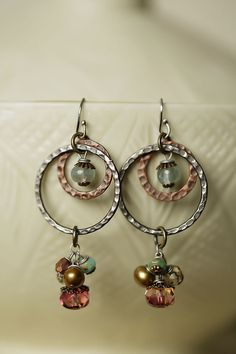 Anne Vaughan Designs - Vintage Find Hoop Dangle Earrings, $32.00 (http://www.annevaughandesigns.com/vintage-find-gemstone-hoop-dangle-earrings/)