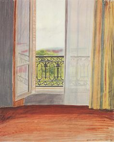 Window, Grand Hotel, Vittel - David Hockney , 1970 British, b.1937- Lithograph