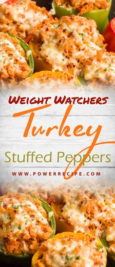 Turkey Stuffed Peppers combine ground turkey, tons of vegetables, and pepper jac. - Turkey Stuffed Peppers combine ground turkey, tons of vegetables, and pepper jack cheese into a sat - Stuffed Bell Peppers Turkey, Stuffed Peppers Healthy, Stuffed Turkey, Ground Chicken Stuffed Peppers, Stuffed Pepper Recipes, Healthy Ground Turkey, Ground Turkey Recipes, Minced Turkey Recipes, Weights
