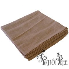 "54"" Square Natural Burlap Table Topper - Inexpensive burlap - only $7.99! Placemats to match for only $1.25 and matching table runner for $3.99"