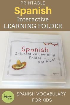 Spanish Interactive Learning Folder