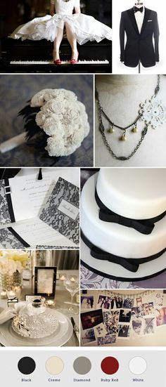 Wedding theme, inspired by old Hollywood Glamour