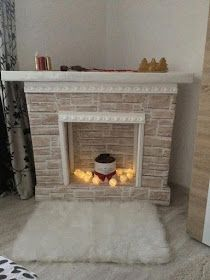Fake Fireplace Logs with Lights . Fake Fireplace Logs with Lights . Diy Faux Fireplace Logs Home & Family Fake Fireplace Logs, Diy Christmas Fireplace, Faux Fireplace Mantels, Cardboard Fireplace, Simple Fireplace, Fireplace Cover, Victorian Fireplace, Rustic Fireplaces, Fireplace Design
