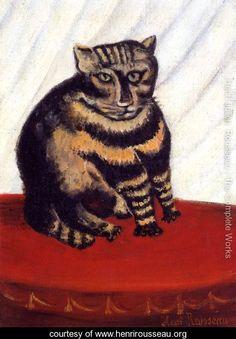 The Tiger Cat - Henri Julien  Rousseau - www.henrirousseau.org